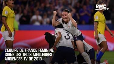L'équipe de france féminine signe les trois meilleures audiences TV de 2019
