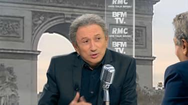 Michel Drucker ce mardi matin sur BFMTV et RMC.