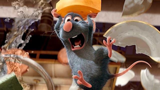 Rémy, le rat héros de Ratatouille, le dessin animé de Disney.