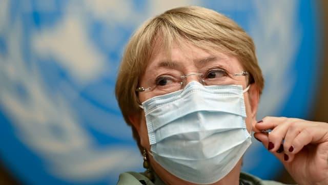 La Haute-Commissaire aux droits de l'homme Michelle Bachelet le 21 juin 2021 à Genève (photo d'illustration)