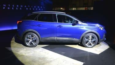 Le 3008, le SUV best-seller de Peugeot, modèle le plus vendu en France.