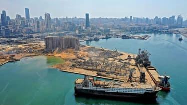 vue du port de Beyrouth le 7 août.