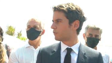 Gabriel Attal, jeudi 29 juillet 2021 à La Grande-Motte (Hérault)