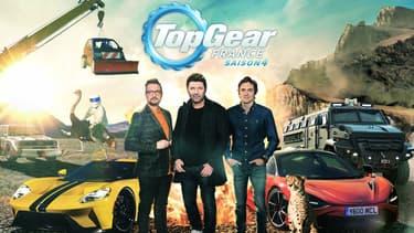 Le Stig, Le Tone, Philippe Lellouche et Bruce Jouanny prêts pour la quatrième saison de Top Gear France.