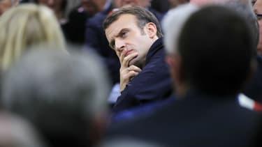 Emmanuel Macron devant 600 maires en Normandie, le 15 janvier 2019. (Photo d'illustration)