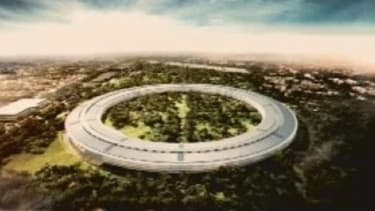 Capture d'écran du futur campus d'Apple à Cupertino