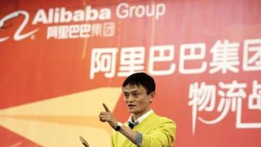 Alibaba est dirigée par le charismatique Jack Ma, ici en photo.