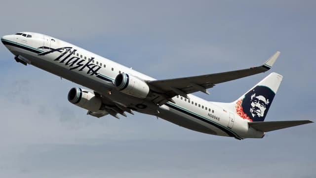Un avion d'Alaska Airlines.