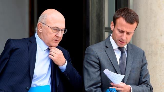 Emmanuel Macron et Michel Sapin compte sur le plan Juncker pour relancer l'investissement