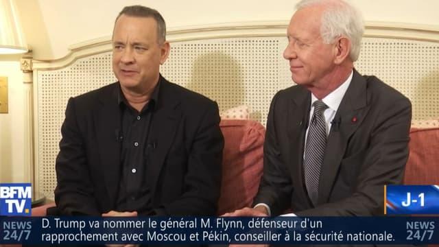 """Tom Hanks et Chelsey Sullenberger dans """"7 jours BFM"""""""