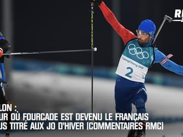 Biathlon : Le jour où Fourcade est devenu le Français le plus titré aux JO d'hiver (commentaires RMC)