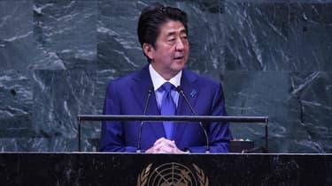 Shinzo Abe lors de l'Assemblée générale de l'ONU