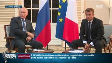 """La passe d'armes tendue entre Poutine et Macron sur les """"gilets jaunes"""""""