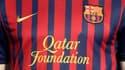 Qatar Foundation sur le maillot de Barcelone (Crédit: Reuters/Albert Géa)