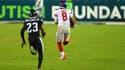 Le quarterback des Giants Daniel Jones quelques secondes avant la chute fatale