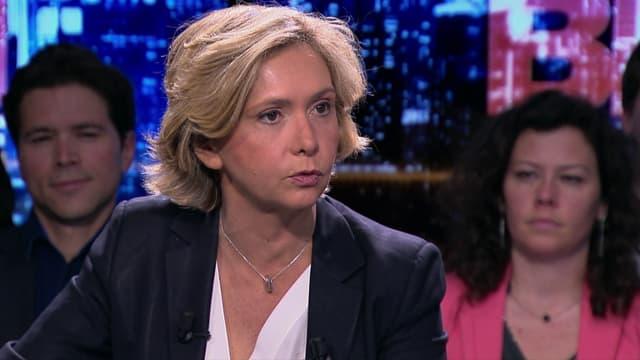 Valérie Pécresse sur le plateau de BFM Politique dimanche 26 avril 2015.