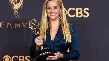 L'actrice américaine Reese Witherspoon aux Emmy Awards, le 18 septembre 2017 à Los Angeles.