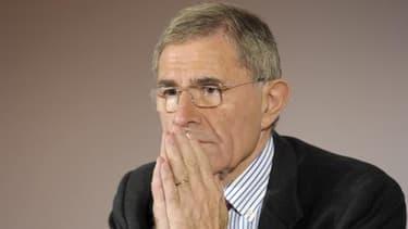 Gerard Mestrallet, lors de la présentation des résultats annuels de GDF Suez, ce jeudi 27 février.