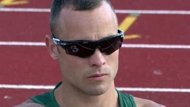 Le Sud-Africain Oscar Pistorius, premier athlète paralympique à avoir participé à des Jeux olympiques avec les valides.