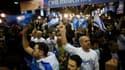 Partisans du Likoud réunis au siège du parti, à Tel Aviv.