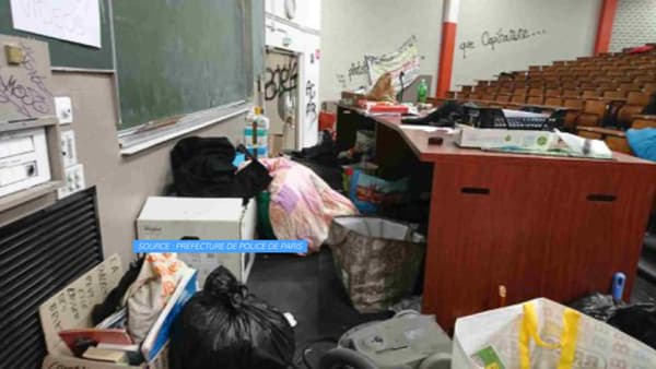 Les images de l'université de Tolbiac après l'évacuation.