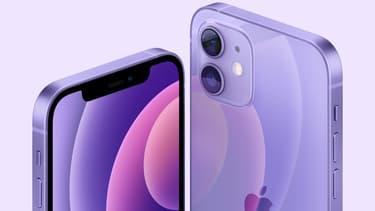 L'iPhone 12 mauve d'Apple