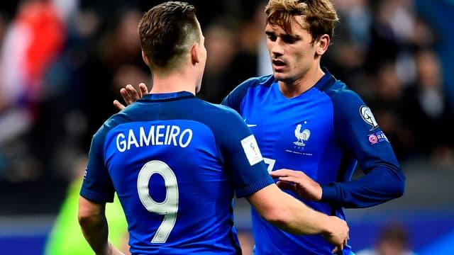 Kévin Gameiro et Antoine Griezmann