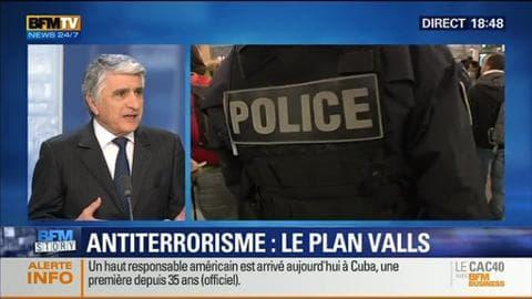 """BFM Story: Lutte contre le terrorisme: Manuel valls prône un """"renforcement significatif des moyens humains et matériels"""" – 21/01"""