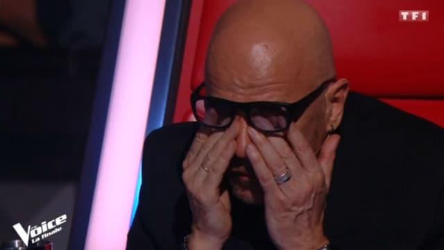 """L'émotion de Pascal Obispo pendant l'hommage à Maurane dans """"The Voice"""", le 12 mai 2018"""