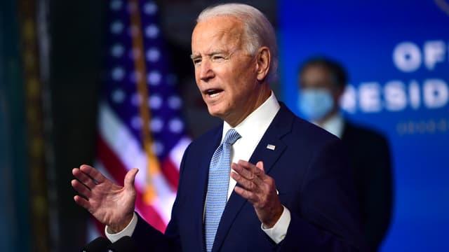 Joe Biden lors de la présentation de l'équipe diplomatique et de sécurité nationale de son futur gouvernement.