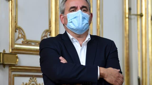 Le président (ex-LR) des Hauts-de-France Xavier Bertrand à l'Hôtel Matignon, à Paris, en septembre 2020