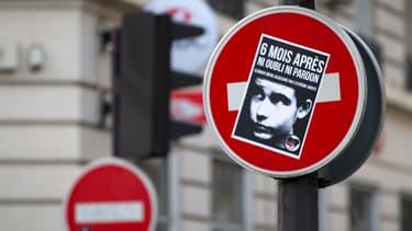 Une affiche de souvenir dans Paris, 6 mois après la mort de Clément Meric