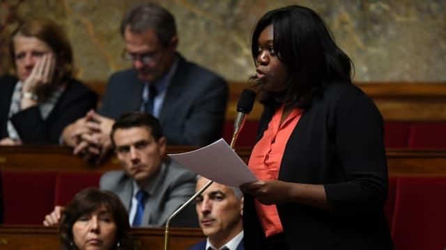 La députée La République en marche Laetitia Avia, le 8 novembre 2017 à l'Assemblée nationale à Paris.