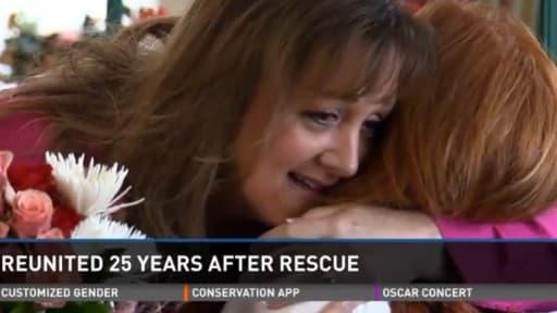 Les retrouvailles d'une femme et de la famille qu'elle a secourue 25 ans plus tôt, après un accident de la route.