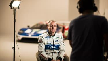 Olivier Pla, début 2016, alors qu'il vient d'arriver au sein de l'écurie Ford pour le retour du constructeur aux 24 Heures du Mans.