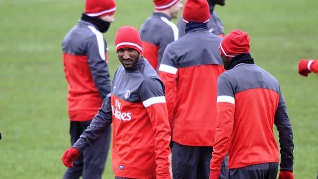 Nicolas Anelka à l'entraînement du PSG