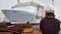 Le Symphony of the Sea, le plus gros paquebot du monde, a quitté Saint-Nazaire dimanche.