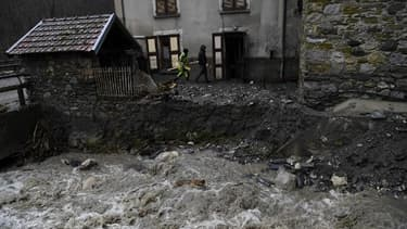 Image d'illustration de la tempête Eleanor dans le village de Moretel-de-Maille, situé dans les Alpes.