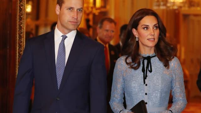 Kate Middleton et le prince William à Buckingham Palace, le 10 octobre 2017