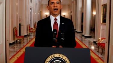 Barack Obama annonce le décès d'Oussama Ben Laden.