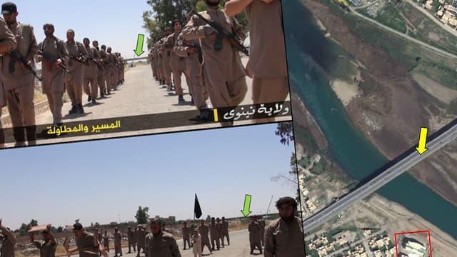 En recoupant des informations de plusieurs vidéos de propagande, Bellingcat estime avoir retrouvé le camp d'entraînement de l'Etat Islamique.
