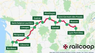 RailCoop veut relier Lyon à Bordeaux dès 2022.