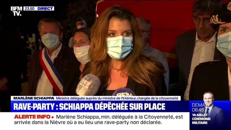 """Marlène Schiappa: """"Les mesures barrières ne sont pas une option, même quand on fait la fête"""""""