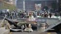 Des manifestants à Toulouse lors du 22e jour de mobilisation.