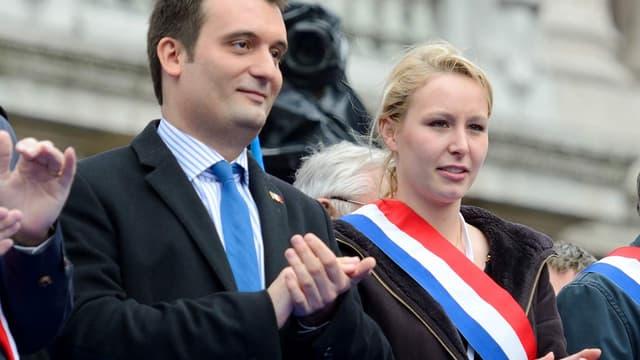 Entre Florian Philippot et Marion Maréchal-Le Pen, rien ne va plus.