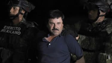 El Chapo lors de son arrestation en 2016 - Image d'illustration