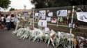 Devant le collège Voltaire à Florensac. Une banale histoire de coeur est à l'origine de la mort lundi d'une collégienne de 13 ans battue à la sortie de cet établissement, selon le ministre de l'Education, Luc Chatel, qui s'est rendu sur place mardi. /Phot