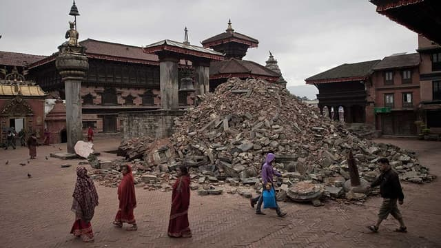L'épicentre du séisme était proche de la capitale népalaise, Katmandou.