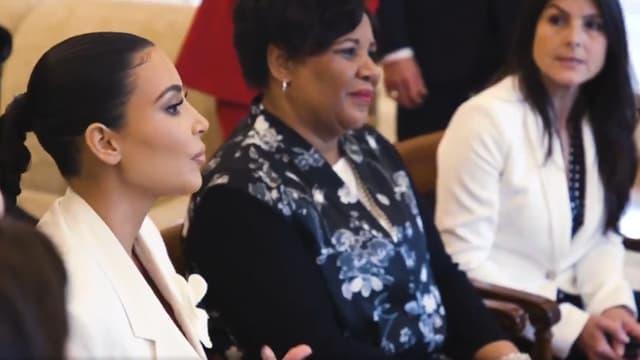 Kim Kardashian à la Maison Blanche