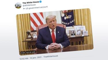Capture d'écran du compte officiel de la Maison-Blanche